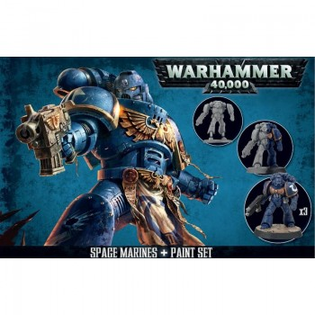 Warhammer 40,000: Space Marine + Paint Set