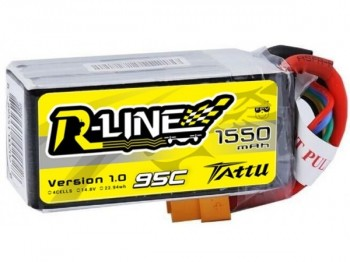 Battery TATTU 1550mAh 14,8V 95C 4S1P RLine