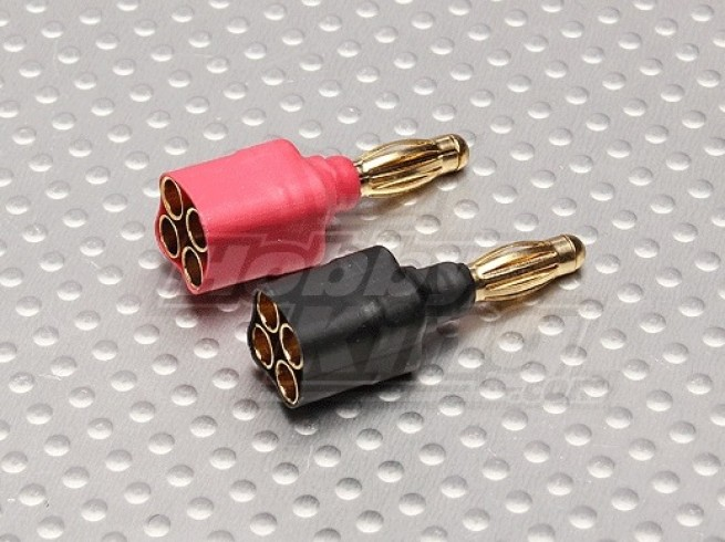 Adapter 4 x 3,5 mm żeński na 4mm męski