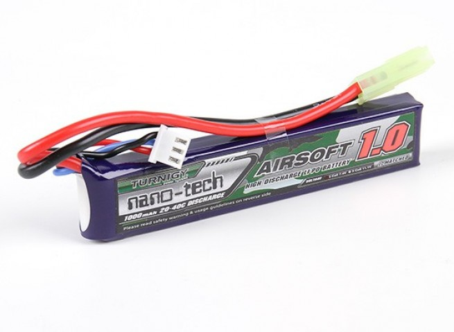 Akumulator Turnigy nano-tech 1000mah 2S 20-40C AIRSOFT