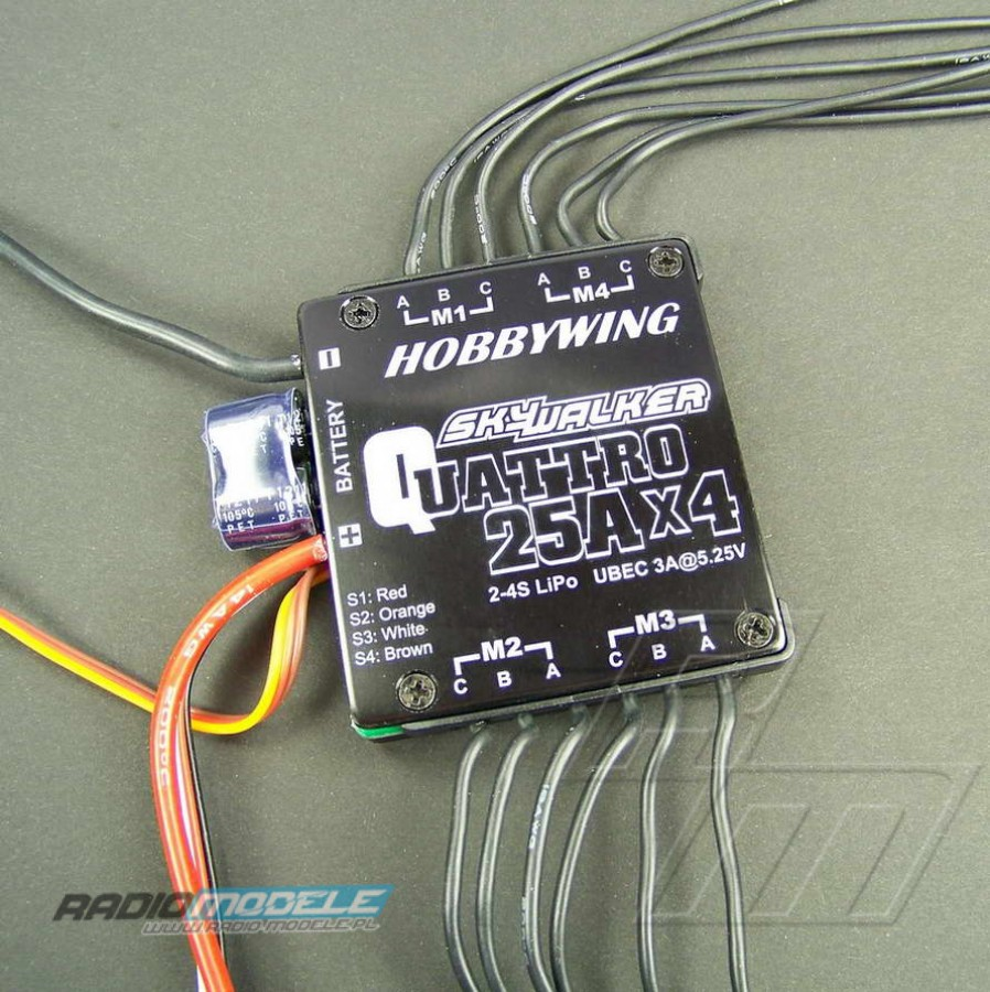 Regulator HobbyWing Skywalker Quattro 4x25A